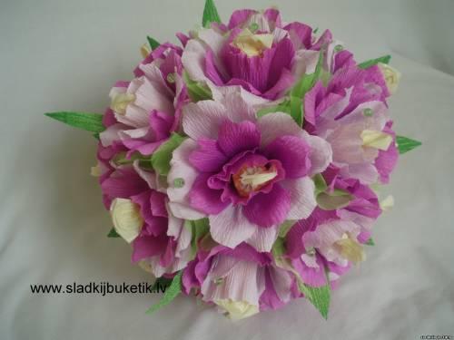 Букеты из конфет розовые розы своими руками